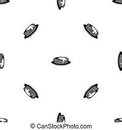 Pancakes pattern seamless black - Pancakes pattern repeat...