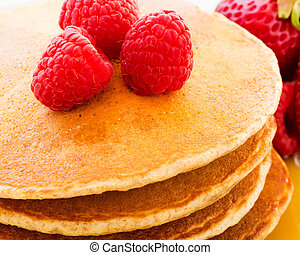Pancakes with berries.