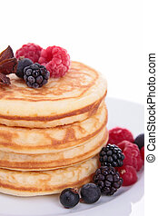 pancakes with berry fruit