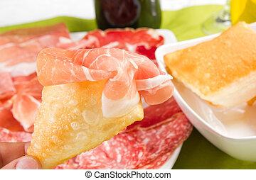 pancakes with ham