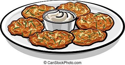 pancakes with sauce