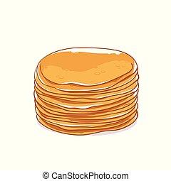 Pancakes without filling. Maslenitsa - slavic holiday carnival.