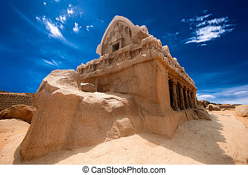 Panch Rathas Monolithic Hindu Temple. India - Panch Rathas ...