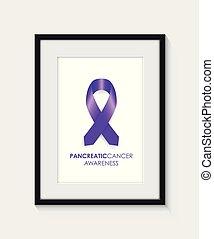 pancréatique, cancer, conscience, cadre