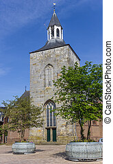 Pancratius basilica on the market square of Tubbergen