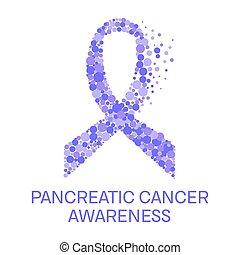 Pancreatic cancer ribbon poster