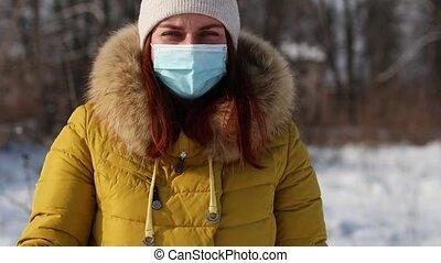 pandémie, covid-19, masque, coronavirus, contre, girl, maladie médicale, jeune, 2019, touriste