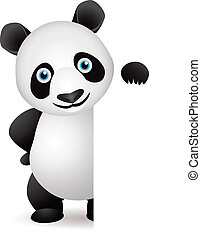 Panda and blank space