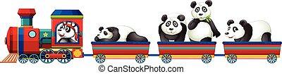 Panda and train