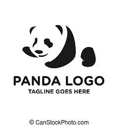 panda animal logo design