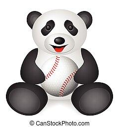 panda baseball ball