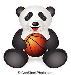 panda basketball ball