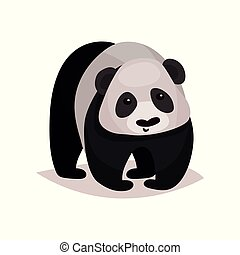 Panda bear animal cartoon vector Illustration