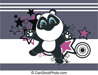panda bear cartoon background in vector format