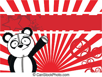 panda bear cartoon background2