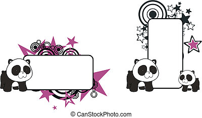 panda bear cartoon copy space1 - panda bear cartoon copy...