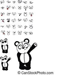 panda bear cartoon set02 - panda bear cartoon set in vector...