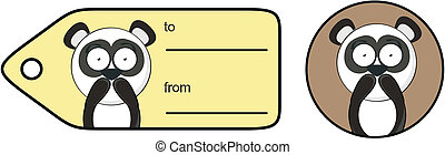 panda bear cartoon sticker4