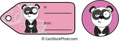 panda bear cartoon sticker8
