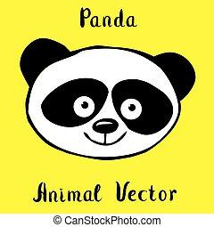 panda bear hand drawn