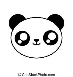 panda bear kawaii cute animal icon