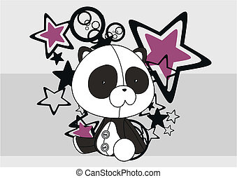 panda bear plush cartoon backgroud4 - panda bear plush...