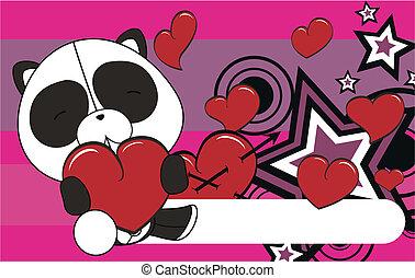 panda bear valentine plush backgrou