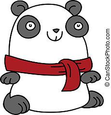 panda, bufanda