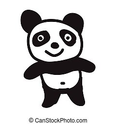 panda cartoon icon