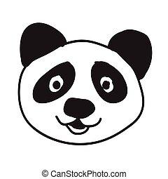 panda cartoon icon