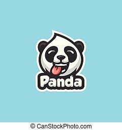 Panda Concept illustration vector template