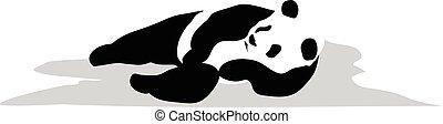 panda, entspannen