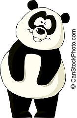 Panda on a white background, vector illustration
