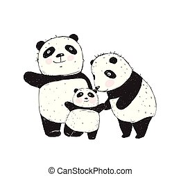 panda, familie