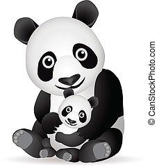 panda, familj