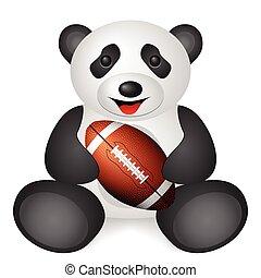 panda football ball