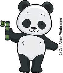 panda, gigant