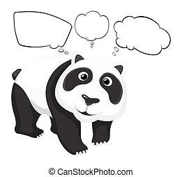 panda gigante, vacío, callouts