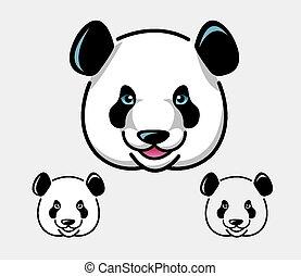 Panda head illustration