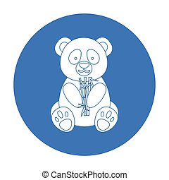 Panda icon in black style isolated on white background. Japan symbol stock vector illustration.