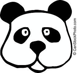 panda icon isolated on white background