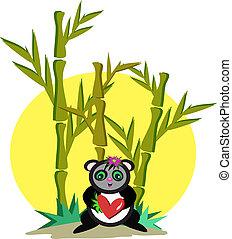 Panda in Bamboo Grove.