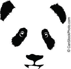 Panda isolated on white background