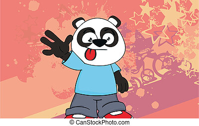 panda kid cartoon background4 - panda kid cartoon background...