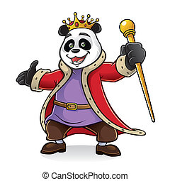 Panda King - King of panda being greeted with friendly and...