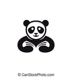 Panda logo template vector icon