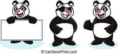 Panda Mascot Vector happy