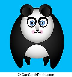 panda on all fours