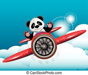 Panda on the plane