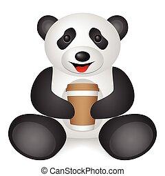 panda paper coffee cup